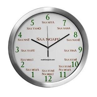 klocka swahili