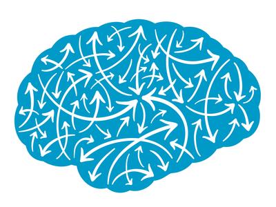 Brain with multidirectional arrows