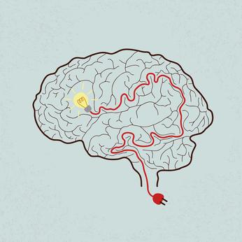 Lightbulb Brain Idea for Ideas or Inspiration , eps10 vector format